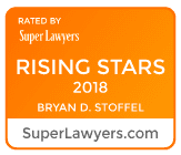 orange 2018 rising star badge for Bryan D. Stoffel an Indianapolis adoption lawyer